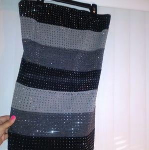 Very pretty sparkly tube-top dress